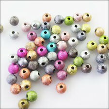 20Pcs Mixed Acrylic Plastic Round Ball Spacer Beads Charms DIY 12mm