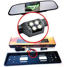 Rückfahrkamera Kennzeichen Nummernschildhalter mit Rückspiegel Monitor