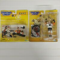 1997 Ron Hextall & 1998 Eric Lindros Philadelphia Flyers Starting Lineup Figures