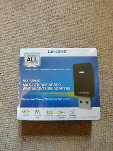 Linksys Linksys WUSB6100M Max-Stream AC600 Wi-Fi Micro USB Adapter USB 2.0