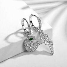 Boucles d'oreilles pavée zirconium 💎 pac-man, foudre 🌩 style apm monaco 🌟
