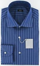 New $325 Barba Napoli Navy Blue Shirt 17/43