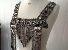 Original vintage/ antique 1920's/30's beaded dress front, exquisite piece!