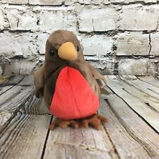 "Ty Beanie Baby Early Red Breasted Robin 4"" Beanbag Stuffed Plush with Heart Tag"