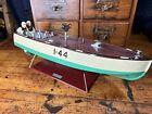 JC22 Reissue 1990s Vintage Lionel #44 Power Boat Wind Up Tin Toy