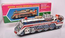 Vintage Battery Op PISTON SILVER MOUNTAIN EXPRESS Train #4067 Japan w Box