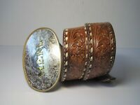 Montana Silversmith Belt Buckle With Leather Belt Initial Merl  Size 34