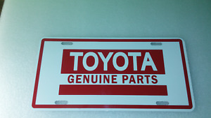 TOYOTA GENUINE PARTS  LICENSE PLATE  12'X6'' + BONUS  FREE STICKER
