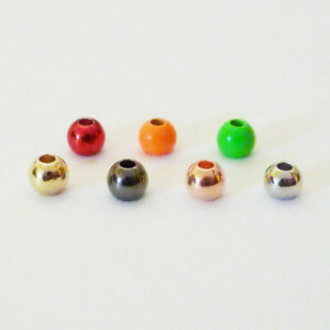 Premium Brass Fly Tying Beads (25 Pack) - 7 Colors, 7 Sizes