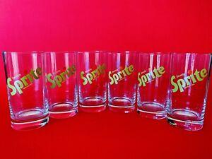 🔴 Set 6 bicchieri vintage in vetro SPRITE anni 70 no coca cola corriere GRATIS