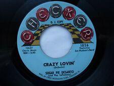 SUGAR PIE DESANTO 45 'CRAZY LOVIN' USA CHECKER 1963 NORTHERN SOUL MOD VG+