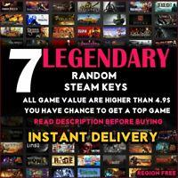 7 LEGENDARY VIP Random Steam Keys Worth Value + 70$ + gift