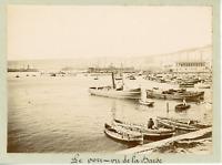 Algérie, Alger, le port, vue prise de la Darse Vintage citrate print,  Tirag