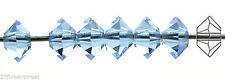 36 Czech MC Spacer Beads (Squished Diamond shape 5305) 3x5mm, Light Sapphire