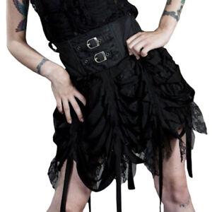 Burleska Gothic Goth Punk Burlesque Minirock - Shadow Spitze Strapsen Shredded