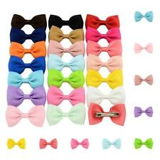 20Pcs Girl Baby Kids Hair Bows Band Boutique Alligator Clip Grosgrain Ribbon LD