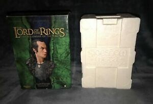THE LORD OF THE RINGS : LORD ELROND POLYSTONE BUST MADE BY SIDESHOW - VGC