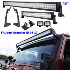 "Mounting Brackets Fits 07~17 Jeep Wrangler JK +52"" 700W +22"" +2x4"" LED Light bar"