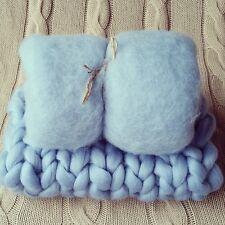 Baby Blu Neonato Foto di scena Set Cesto Stuffer Baby Fluff e COPERTA RTS