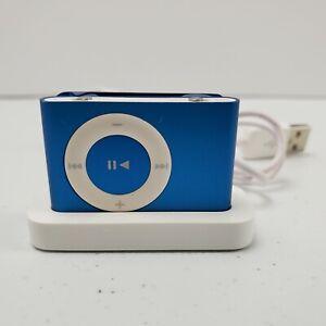 Apple iPod Shuffle 2nd Generation 1GB Blue A1204 MP3 player