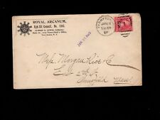 Royal Arcanum Fraternal Kyk-Uit Council  Crown Logo Tarrytown NY 1897 Cover 4k