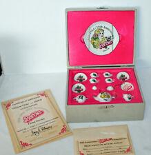 Vintage Barbie 25th Anniversary Miniature Tea Set Mattel 1959-1984 14 Pieces