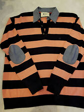 GABICCI - Navy & Salmon Polo style jumper - p2p 22.5 inches - MED - NWOT