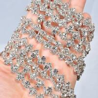 Sparkling Rhinestone Trim Slim Diamante Sash Belt Bridal Dress Shoulder Straps