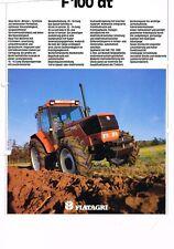 Fiatagri F 100 dt, orig. Prospekt (beschädigt!) 90er Jahre