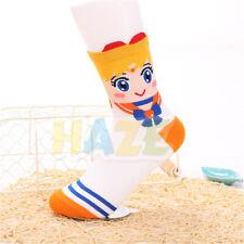 Sailor Moon Sweat Breathable Women's Medium Socks Cotton Socks Orange