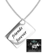 """Lily & Lotty Love Letters  """"Friends Forever"""" Sterling Silver & Diamond Necklace"""