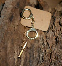 Gold-Filled Hand Cuffs Tie Clasp