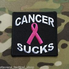 Cancer Sucks Pink Ribbon Breat Cancer Patch