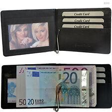 Geldbörse mit Geldklammer Münzfach Rindleder Geldspange Geldbeutel Herrenbörse