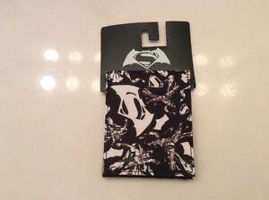 Bioworld Men's Black And White Superman Slim Fold Wallet