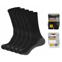 Dickies Mens 5-Pack Dri-Tech Comfort Cushion Crew Work Socks
