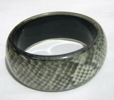 Wonderful Chunky style statement bangle bracelet with snake scale design 2½ ins