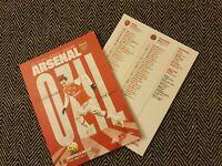 Arsenal v Sheffield United Matchday Programme 18/1/20! FREE POSTAGE WITHIN U.K.!