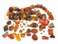 MIXED BALTIC AMBER BEADS Approximately 115 Grams A/F