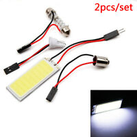 2 X 12V Xenon Hid White 36&Cob Led Dome Map Light Bulbs Car Interior Panel Lamp&