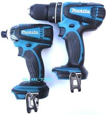 "Makita 18V XPH01 Cordless 1/2"" Hammer Drill, & XDT04 1/4"" Impact Driver 18 Volt"