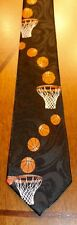 New Basketball Neck Tie Mens Black Hoops Nets All Over A New Neck Tie!