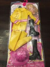 Barbie Career Fashion Fire Fighter Outfit Original New Chj28 Mattel Doll