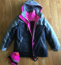 Girls Winter Coat (Size L 14/16) 3-in-1 System by Gerry w/knit hat Cozy Warm-New