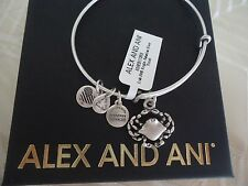 Authentic Alex and Ani CRAB  Russian Silver Charm Bangle New W/Tag Card & Box