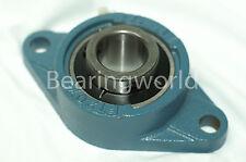 UCFT211-55MM  High Quality 55MM Set Screw Insert Bearing with 2-Bolt Flange