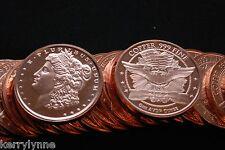2013 (20) Morgan Head 1Oz Round .999 Copper Proof Like Fast Ship New Desig