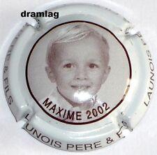 Capsule de Champagne : Promo !!!! LAUNOIS ,Cuvée Maxime 2002, n°15 cotée 5 € !!!