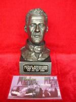 LEGENDS FOREVER MICHAEL SCHUMACHER BUST FORMULA F1 MOTOR RACING BRONZED MODEL