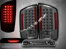 07-09 DODGE RAM 1500 2500 3500 LED TAIL LIGHTS SMOKE + LED BRAKE LIGHT SMOKE